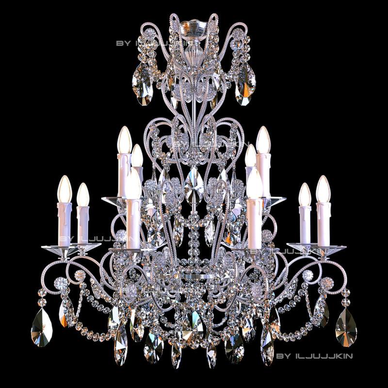 chandelier badari lighting b4-57 3d model
