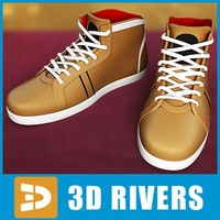 Brown sneakers by 3DRivers