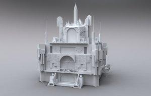 3d castle architecture