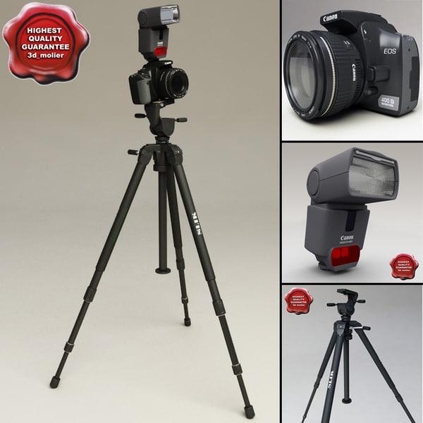 canon eos 400d tripod 3d model