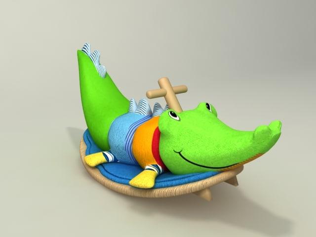 3d cocodrile toy