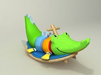 3d cocodrile toy