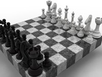 3d model of chess set