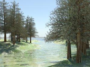 3d model of pine creek