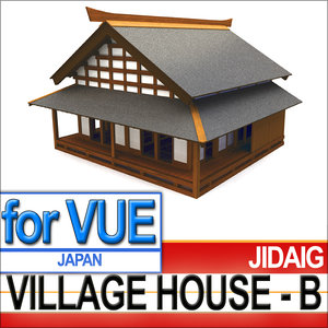 3d samurai village house - model