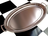 Liquor Tray 1 - 3D Steel Tray with Brushed Aluminum_1 material - created in 3ds max2010