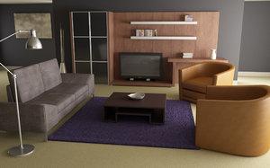 3d max living room 01b