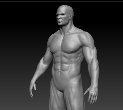 realistic bodybuilder body 3ds