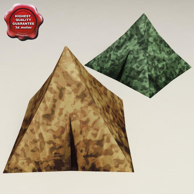 military tents v2 3d max
