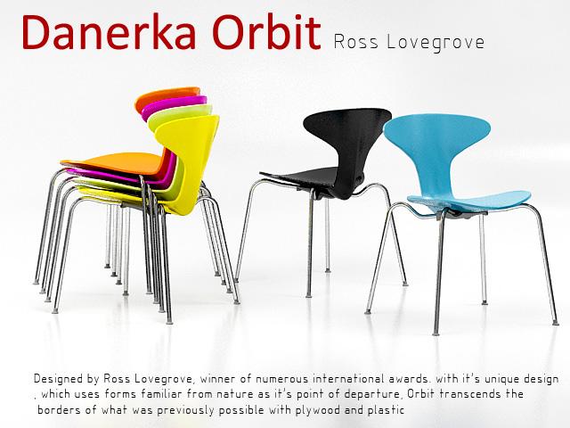 orbit danerka chair 3d model