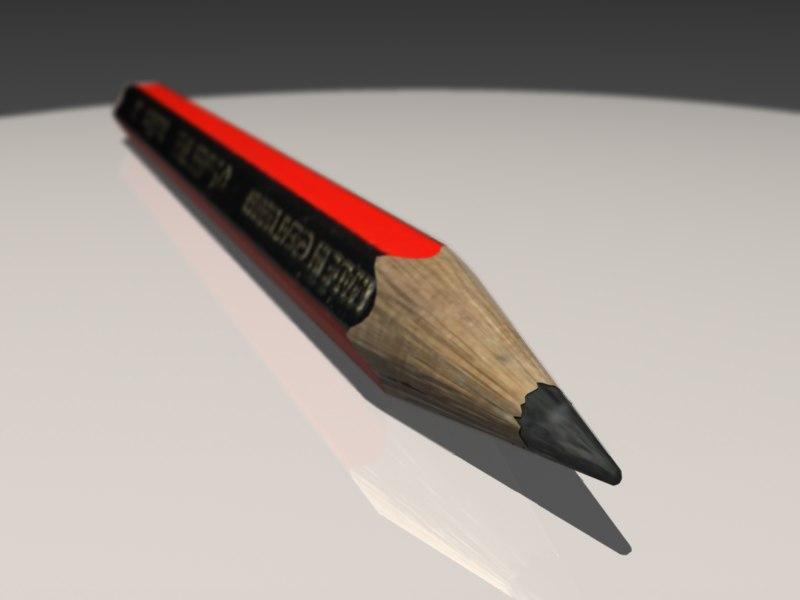 pencil obj