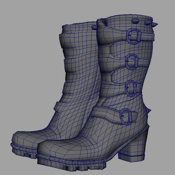 studded boots 3d model