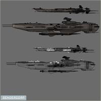 battleship destroyer 3d blend