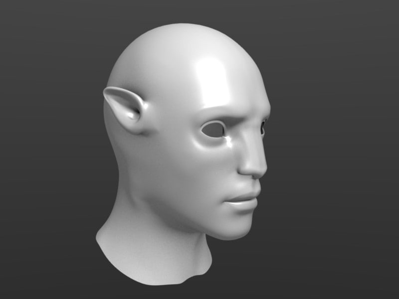 avatar head 3d model