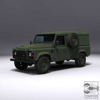 3d british army jeep