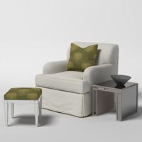 3d model baker soft chair