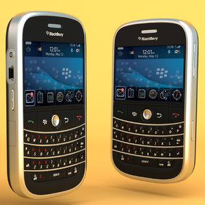 blackberry bold 9000 3d model
