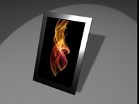 3d model booker tablet ebooks