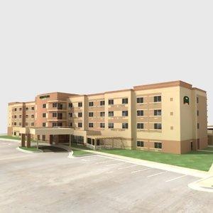 courtyard hotel 3d model