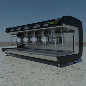 3ds max espresso machine la cimbali