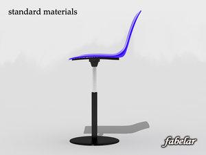 chair standard materials 3d obj