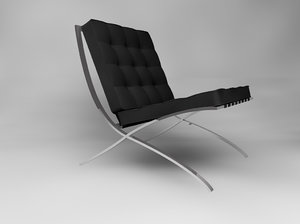 barcelona chair 3ds free