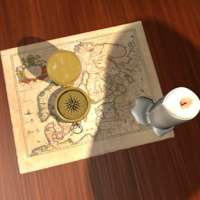 compass ca 3d model