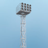 field lighting 3d model