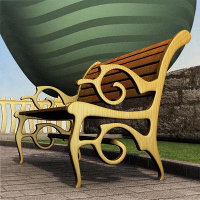 bench b 3d model