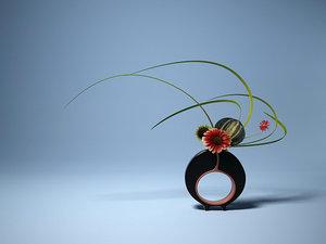 ikebana flower 3d 3ds