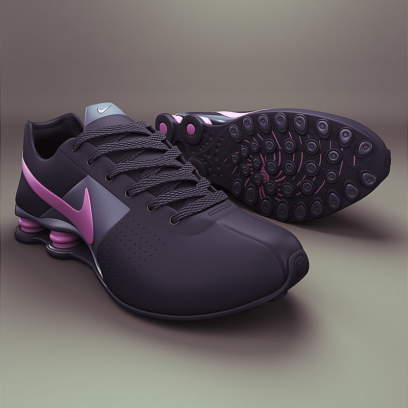 nike shox deliver - 3d max