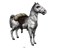 wild west pack horse saddle 3ds
