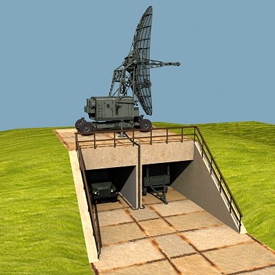 early radar post 3d model