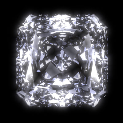 3d radiant diamond cut