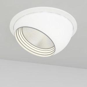 3d model recessed light eyeball
