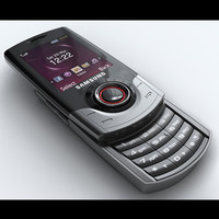 samsung s3100 croy mobile phone 3d model