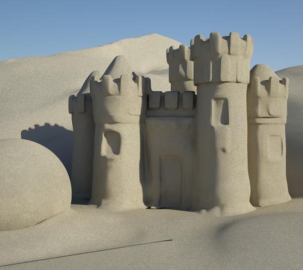 obj sandcastle sand