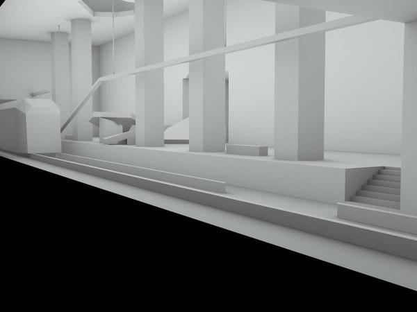 3ds max subway level