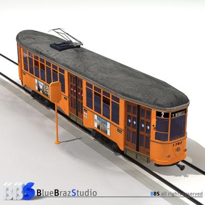 tramway tram 3d model