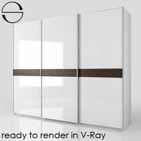 3d max wardrobe sliding doors