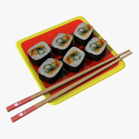 sushi plate chopsticks obj free