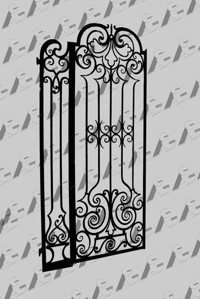 iron gate 3d model