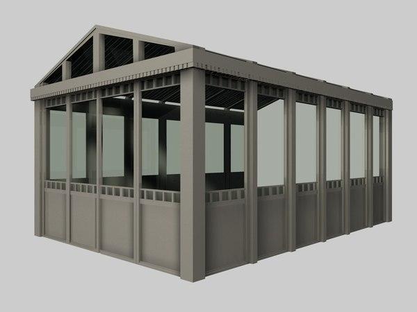 3d model of greenhouse garden