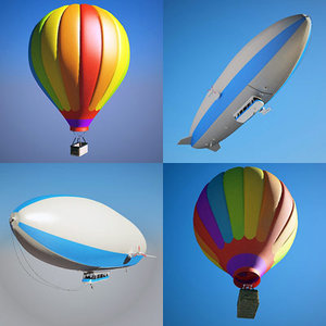 zeppelin hot air balloon 3d model