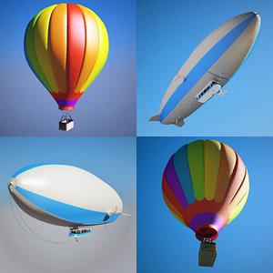 zeppelin hot air balloon 3d model