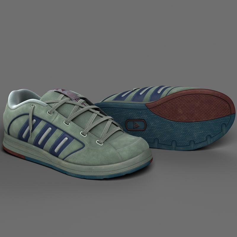 3d model realistic sport shoes