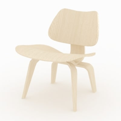 3dsmax eames plywood chair