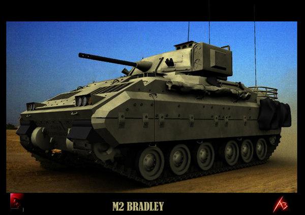 m2 bradley transport 3d model