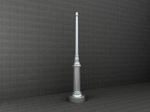 3d antique street lamp model