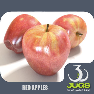 mr red apple 3d model